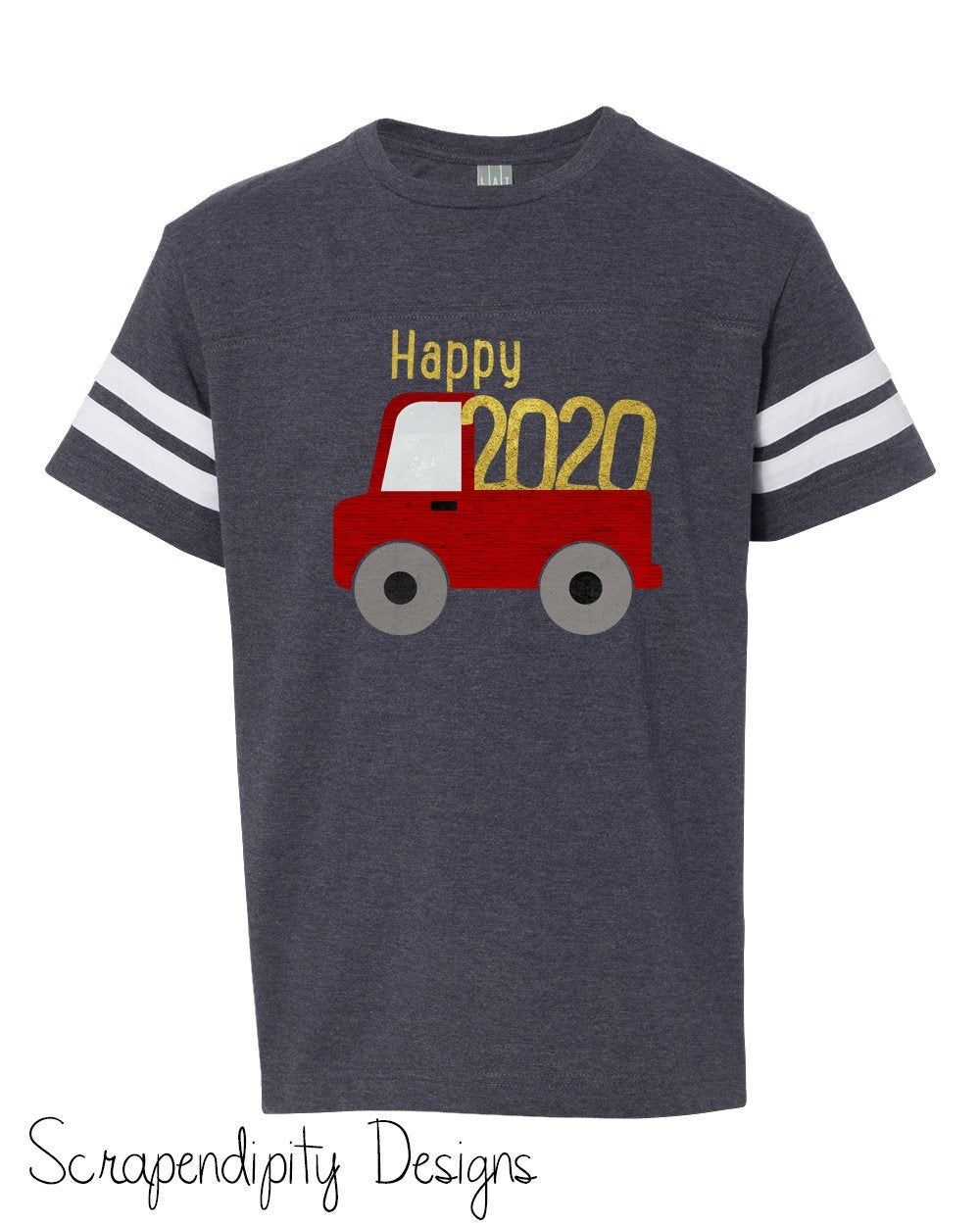 Toddler Happy 2021 Shirt New Year Shirt For Boys 2021 Truck Etsy New Years Shirts Shirts Shirts For Girls