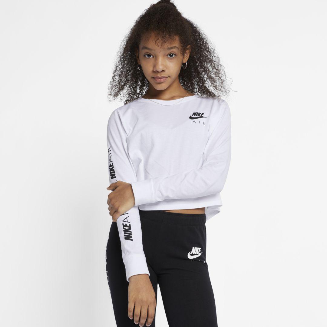 Air Big Kids\u0027 (Girls\u0027) Long,Sleeve Crop Top in 2019