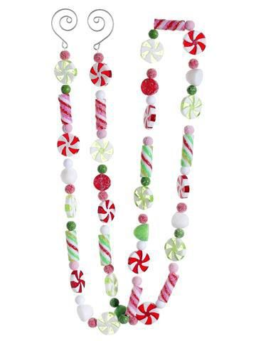 4 Sugared Candy Garland Red Green Everything Christmas Candy