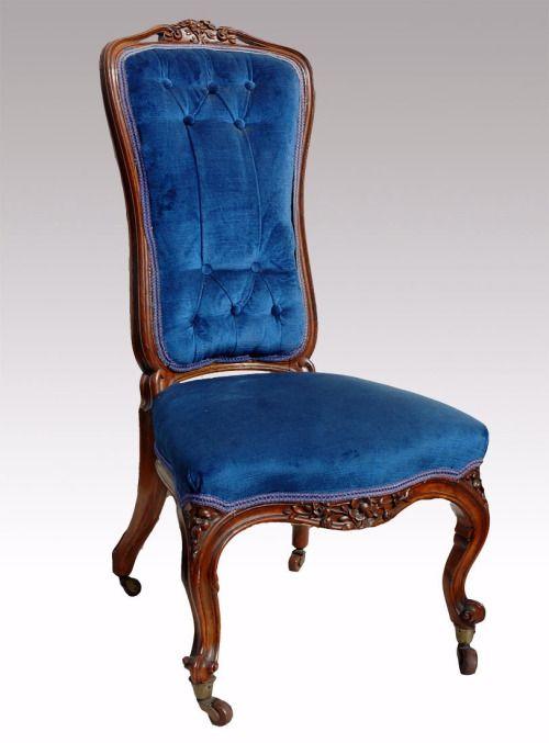 Victorian mahogany framed nursing chair, c. 1870. - Victorian Mahogany Framed Nursing Chair, C. 1870. Furniture