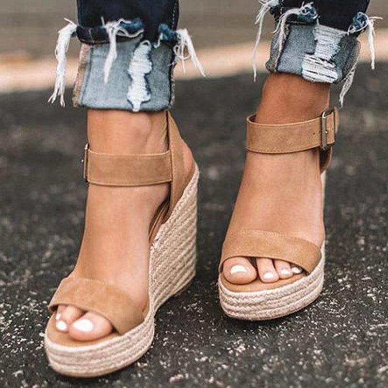 Wedges Heel Sandals Open Toe