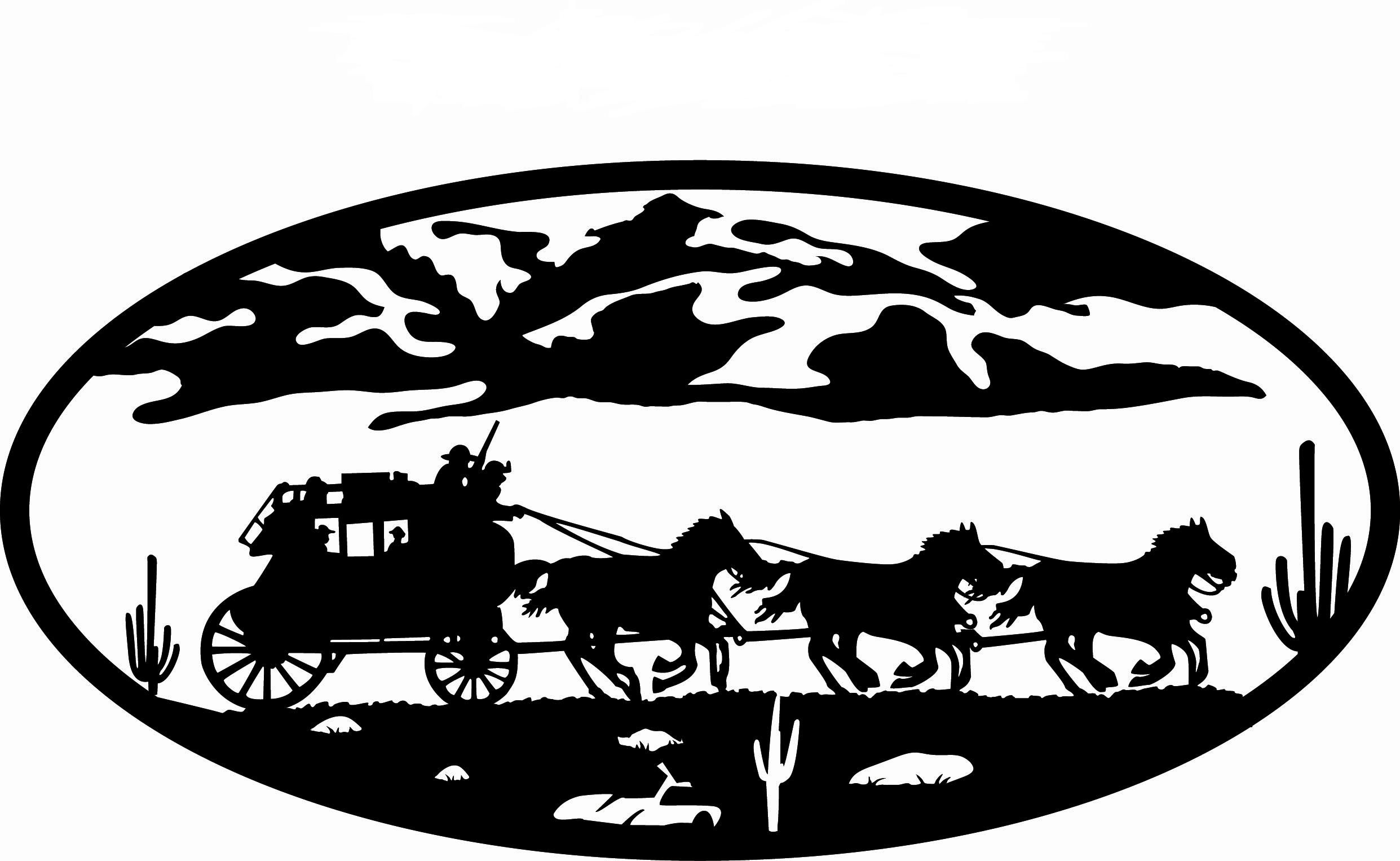 METAL Amish Horse and Buggy Black Silhouette Die Cut Out ... |Metal Horse And Buggy Silhouette