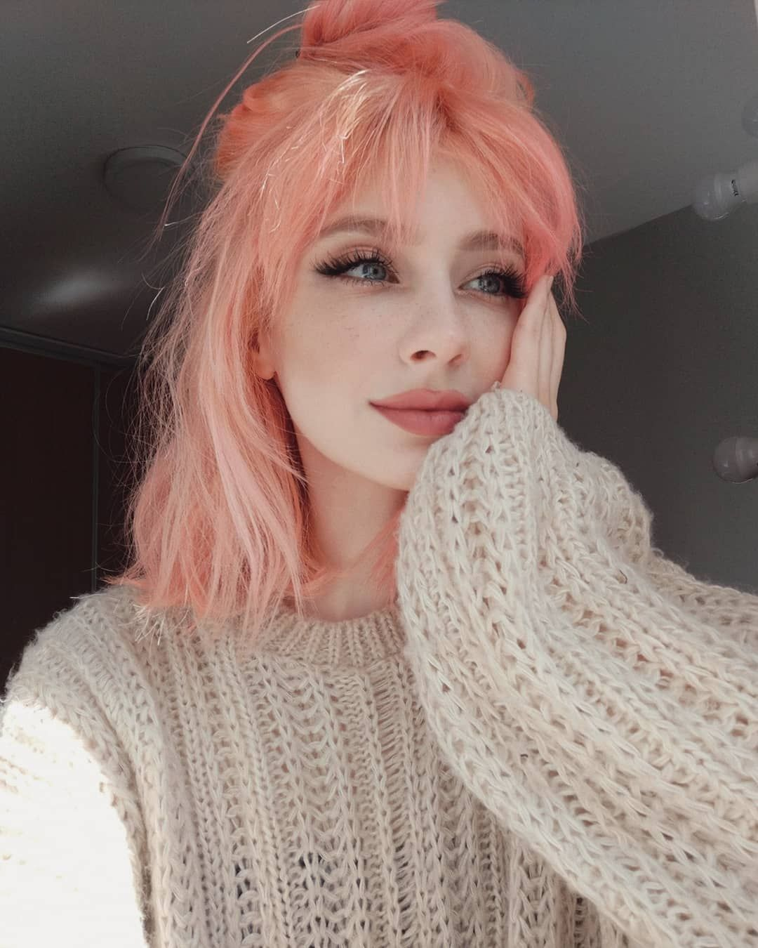 45 Stunning And Awesome Pink Hair Style Page 1 Of 7 In 2020 Peach Hair Hair Styles Cotton Candy Pink Hair