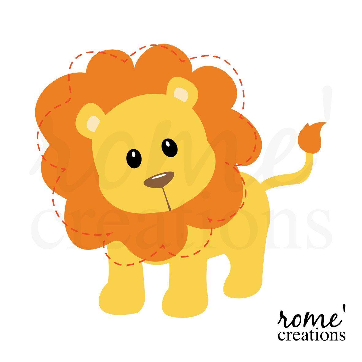 Baby Shower Lion Clipart Lion Clip Art Lion Clipart Lion Clipart Animal Clipart Simple Cartoon