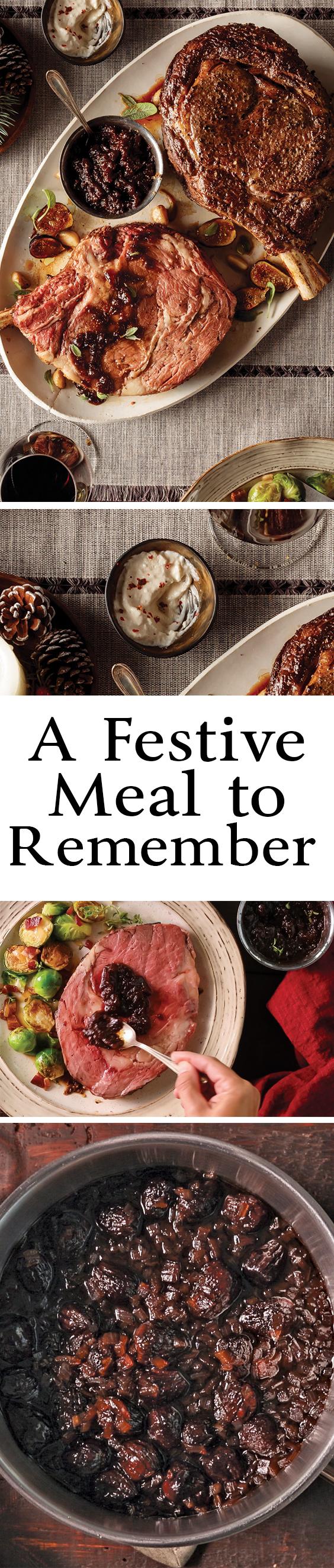 A Festive Meal To Remember Pinterest Omaha Steaks Horseradish