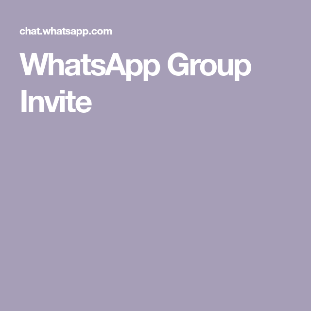 Whatsapp Group Invite Whatsapp Group Invitations Group