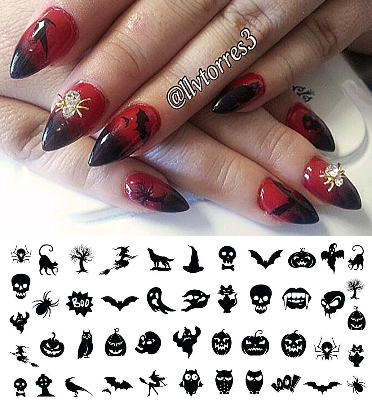 – Halloween Nail Art Decals