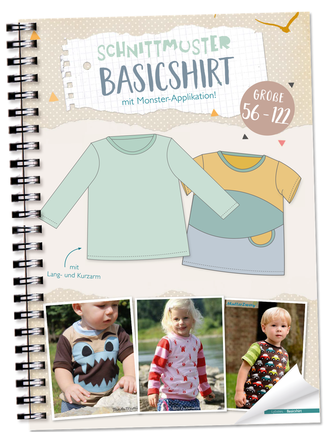 FREEBOOK: Baby-Basicshirt nähen (Gr. 56 und 62) - Lybstes. #babyshirts