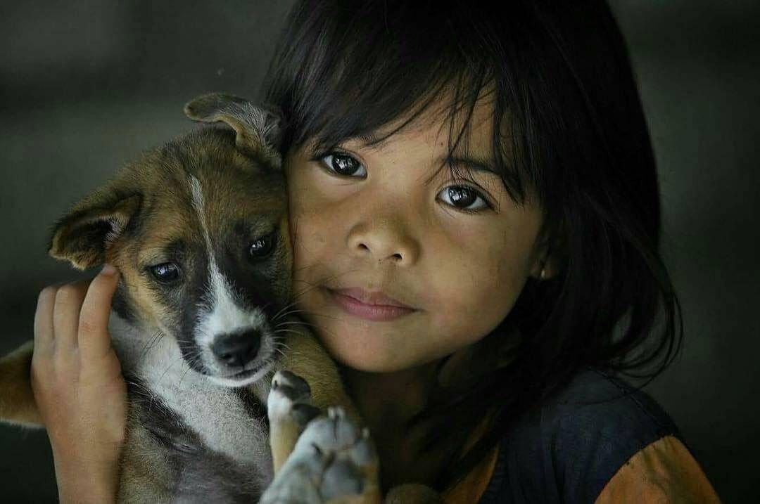 #Child #love #dog Photo by © @denny_isbijanto_bw