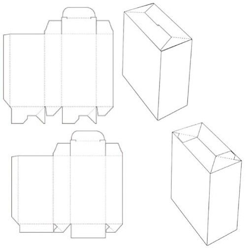 The Collapsible Auto Lock Bottom Carton Box Template Is Also Called Tuck Top Himes Inturn Crash Economy Or Popcorn