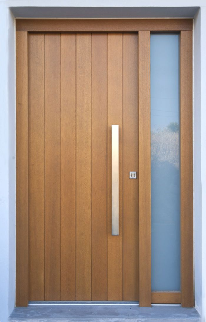 20 Best Modern Door Designs From Wood: Solid Wooden Front Door - TYLISSOS - Block95