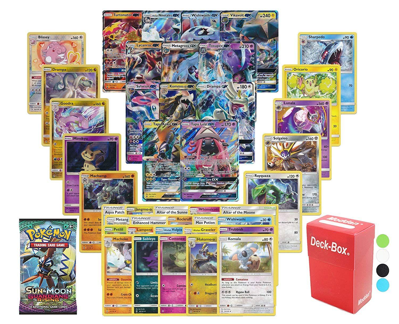20x Pokemon Cards Bundle Sun /& Moon RARE HOLOS GUARANTEED Guardians Rising