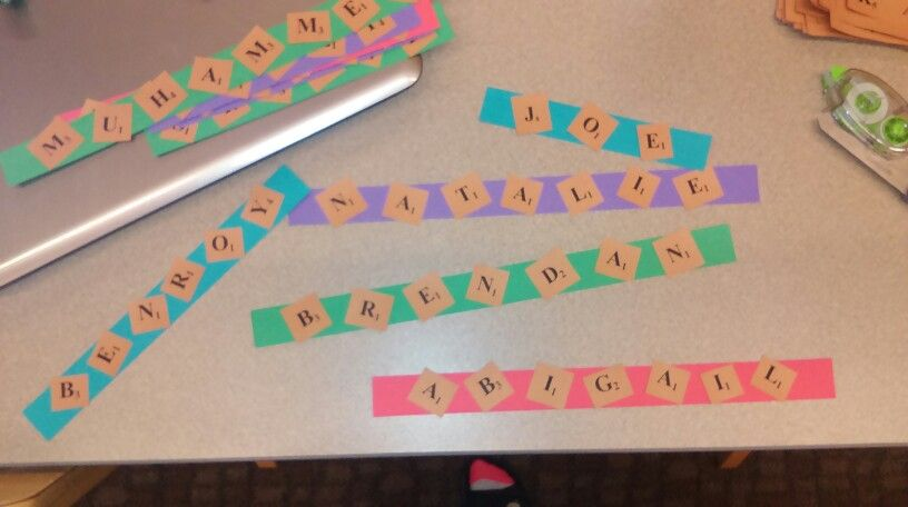 Scrabble Door Decs Easy To Make And Super Cute It S Simple To Find Out What Numbers Correspond With Which Letters Just Go Door Decs How To Find Out Peg Jump