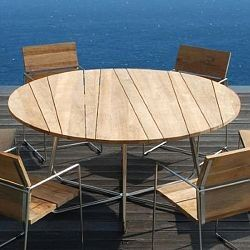 Mamagreen Sally Outdoor Teak Dining Table Set Contemporary Patio Furniture And Home Infatuation