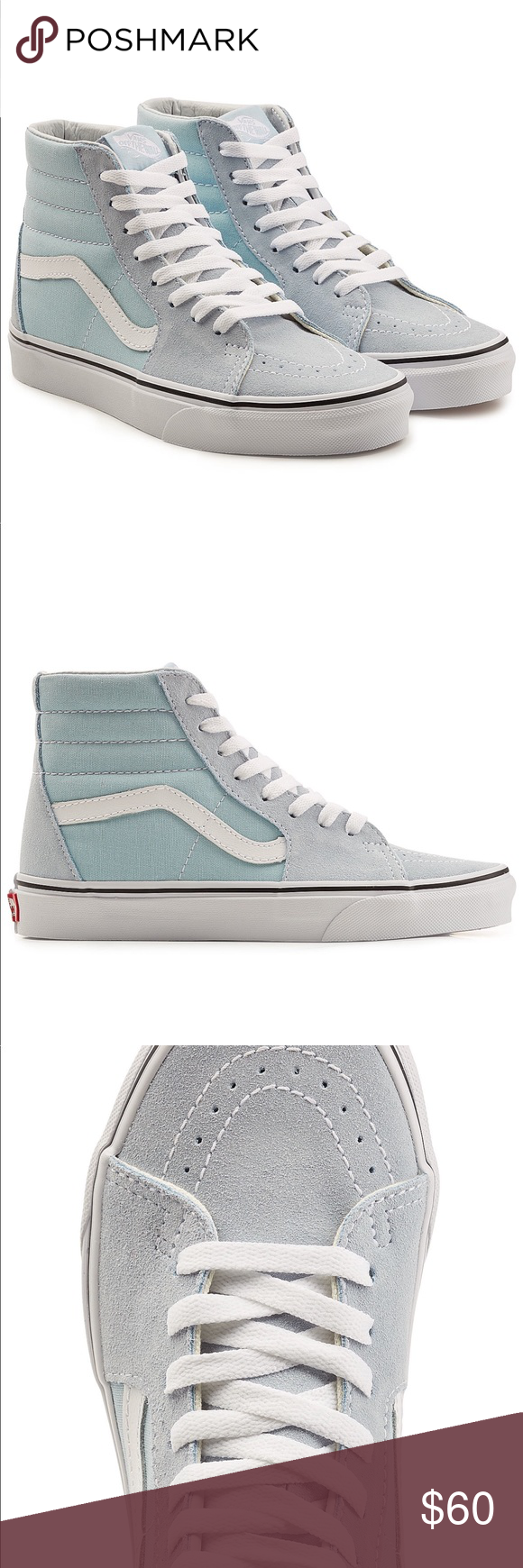 d7bdac11dd9ab2 Vans Sk8-Hi Sky Blue High Top Sneakers Awesome condition! As shown ...
