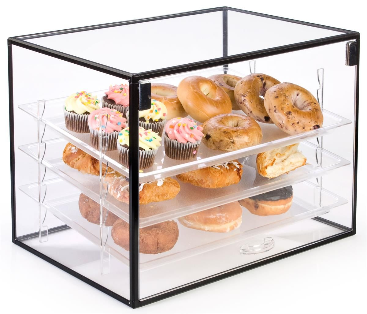 Countertop Bakery Display With Hinged Door And Removable Shelves Bakery Display Pastry Display Cake Display