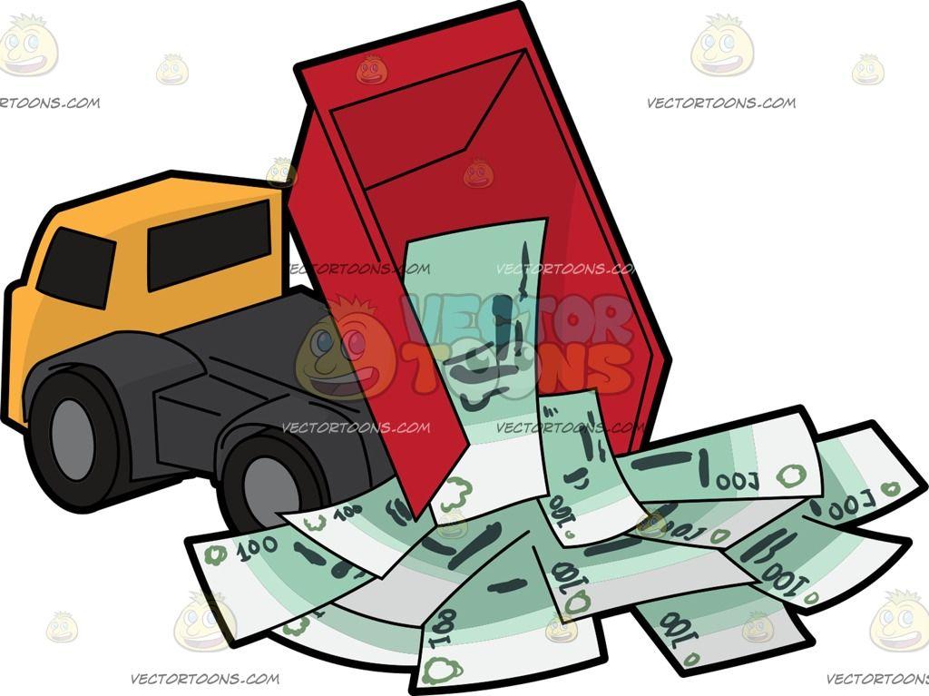 A Dump Truck Releasing Hundreds Of Euros | Pinterest | Dump trucks ...