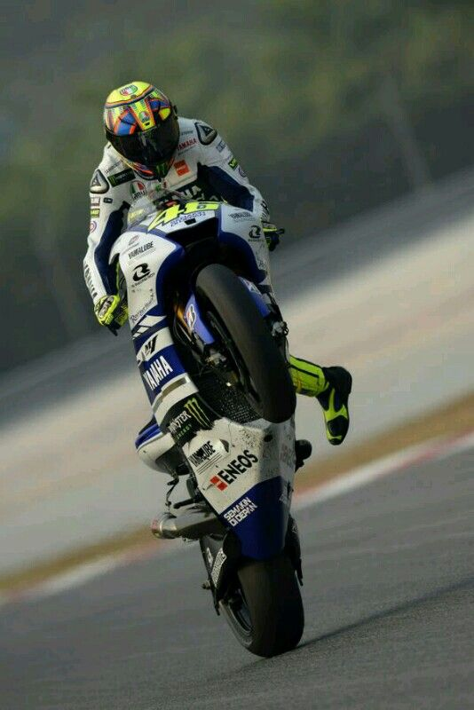 Yessss The Doctor Wheeling With Images Motogp