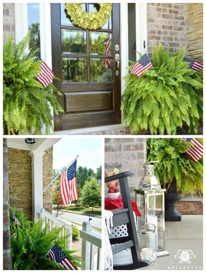Awesome Kelley Nan Red White And Blue Front Porch For The Fourth Pdpeps Interior Chair Design Pdpepsorg