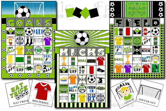 Soccer Party Fun Bingo Letters And Design Do Not Matter You Can Play With All 30 Of These Cards At The Same Time With This List Printable Cards Bingo Cards