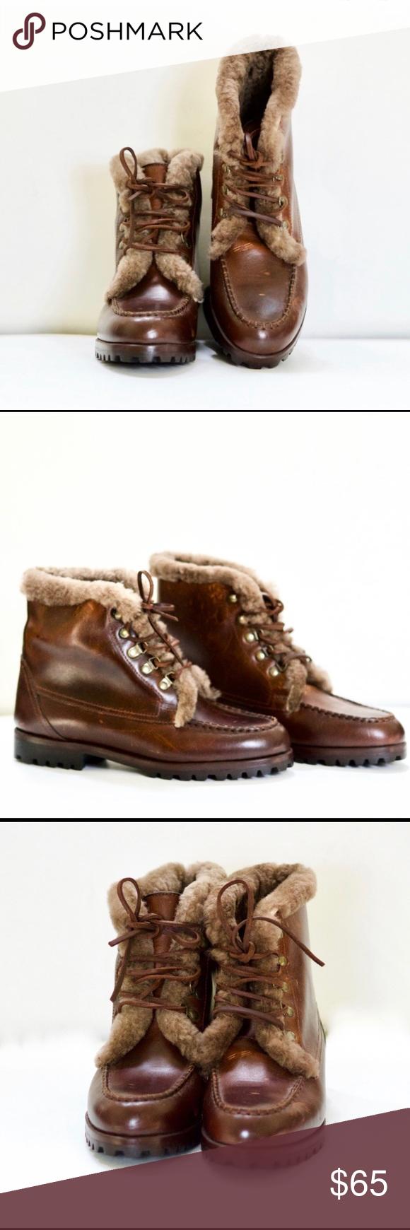 Vintage Cole Haan Fur Lined Leather
