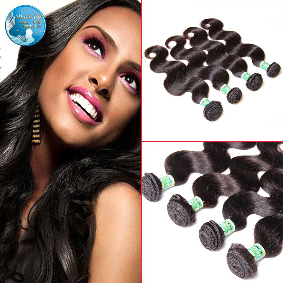 7A 처리되지 않은 브라질 처녀 머리 바디 웨이브 4 번들 순수한 컬러 블랙 8-30 인치 100 그램 브라질 처녀 바디 웨이브 인간의 머리