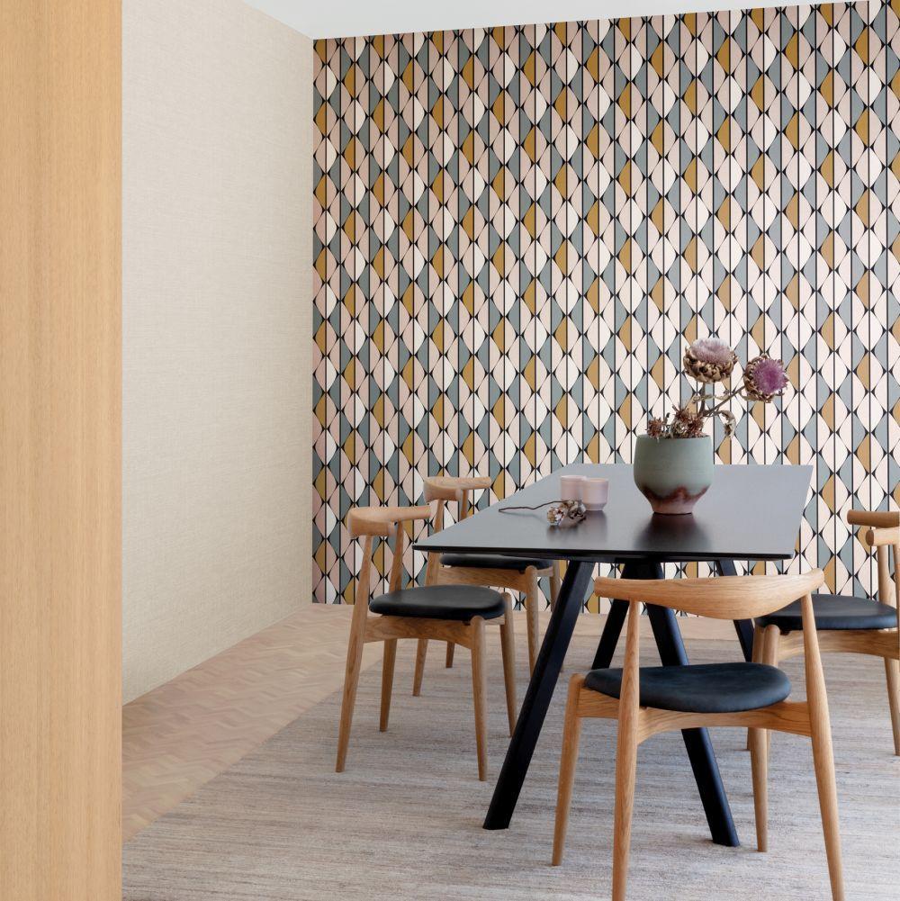 Timor By Zoom By Masureel Honey Wallpaper Wallpaper Direct In 2020 Metal Living Room Furniture Wallpaper Direct Living Room Furniture