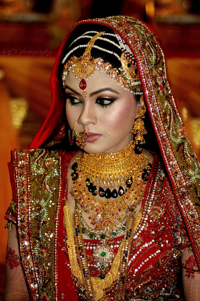 Traditional Indian Bride In Red Dress