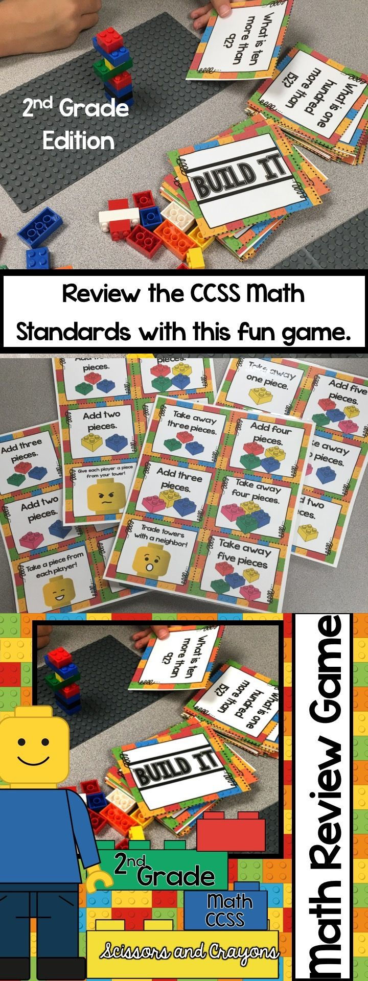 Common Core Math Task Card Second Grade Build It Game | Common cores ...