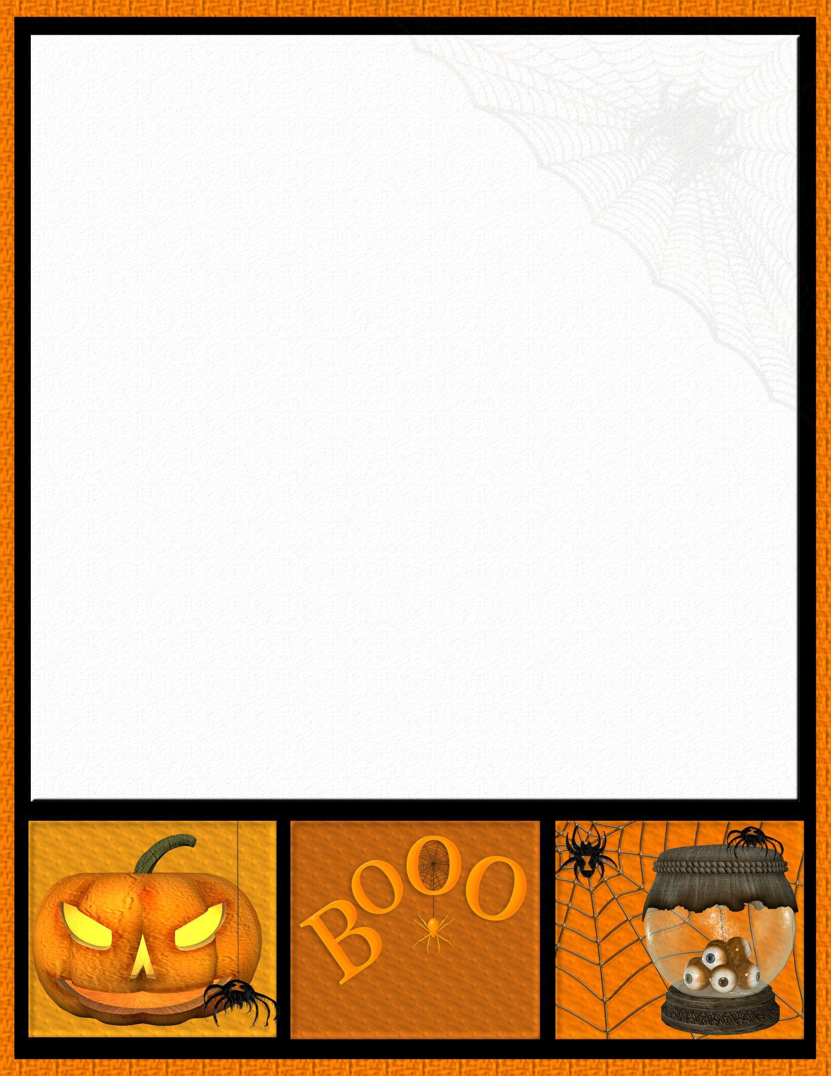 free halloween stationery templates