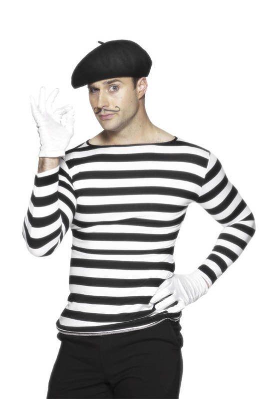 4cfb693d9f4 Mens Ladies Unisex Adult Fancy Dress Costume FRENCH BERET BLACK ...