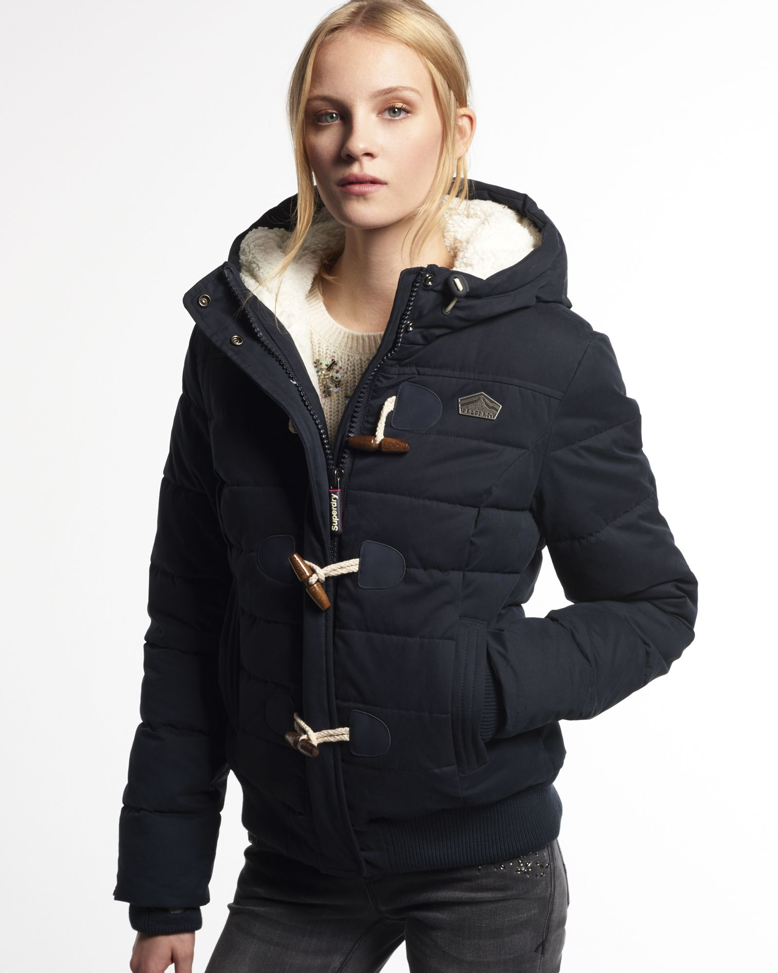 5526b39e349 Microfibre Toggle Puffer Jacket by Superdry Online