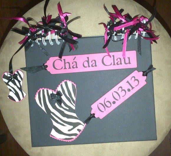 Caderno de Mensagens e fotos para Chá de Lingerie    Scrapbooking for Lingerie Party www.elo7.com.br/amornopapel/caderno-de-mensagens/al/56F49 www.amornopapel.com