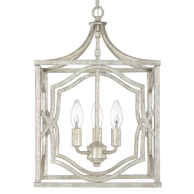 Modern Fretwork Frame Lantern Small Foyer Lighting