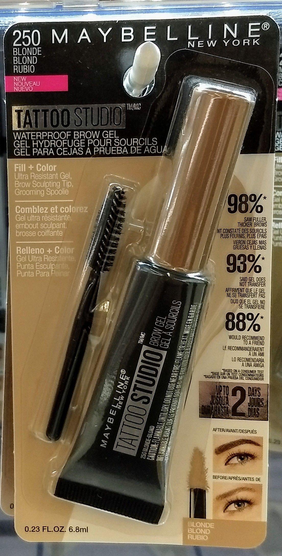 Tattoo Makeup Walmart : tattoo, makeup, walmart, Maybelline, Tattoo, Studio, Waterproof, Blonde, .46, Walmart, Brows,