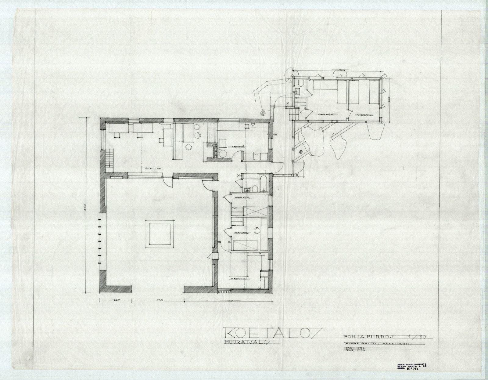 Muuratsalo experimental house muuratsalo finland alvar for The aalto house