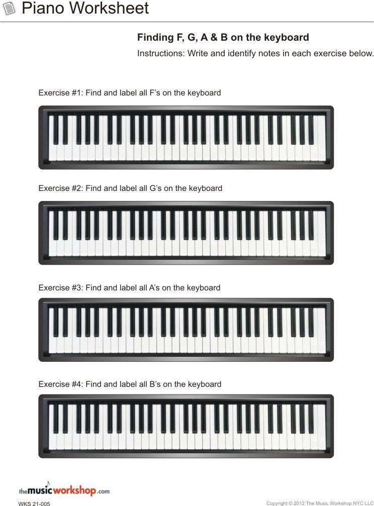 Kids Printable Piano Practice Sheet Piano Worksheet Finding