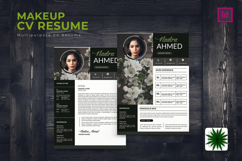 Makeup artist cv resume by karkunstudio on artist cv