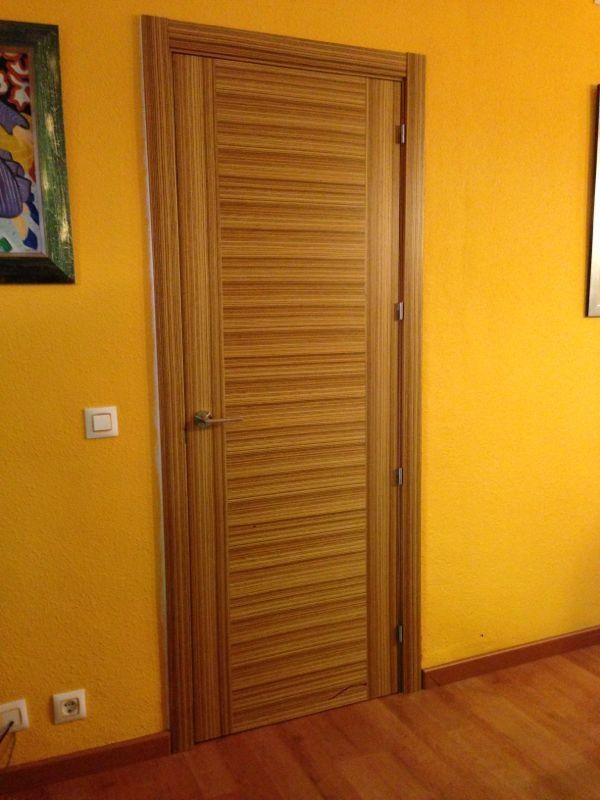 Espectacular puerta de una madera exótica como es el Zebrano & Espectacular puerta de una madera exótica como es el Zebrano ... Pezcame.Com