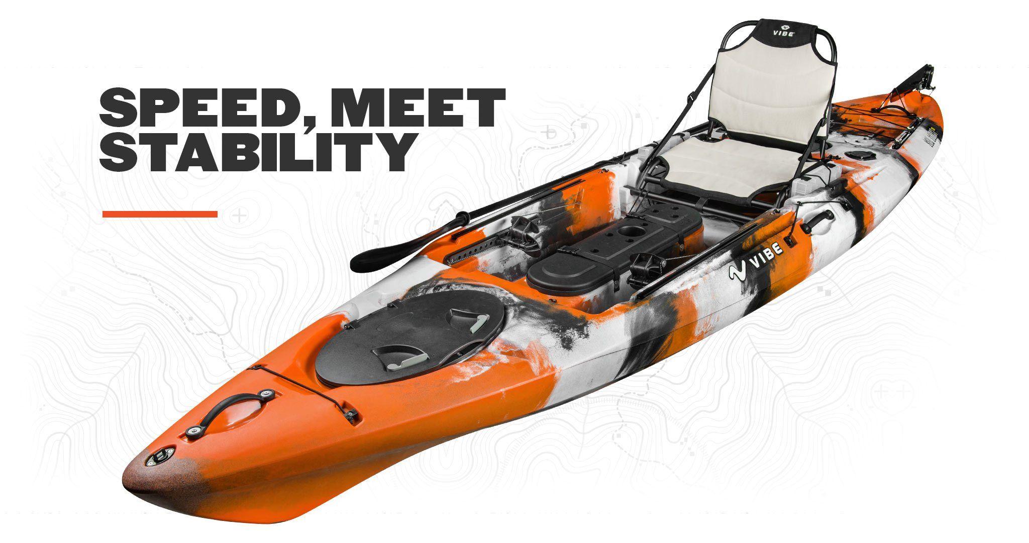 Vibe Sea Ghost 130 13 Foot Sit On Top Fishing Kayak Angler Kayak