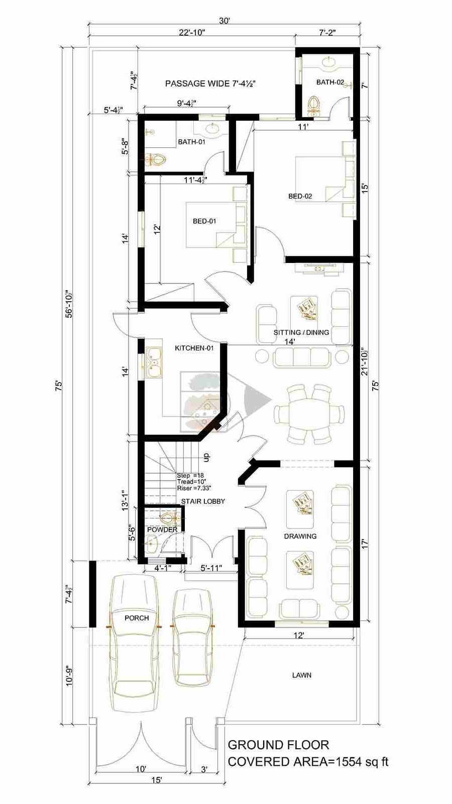 Pin By Sh Naveed On Floor Plans Pakistan 10 Marla House Plan My House Plans Modern House Design