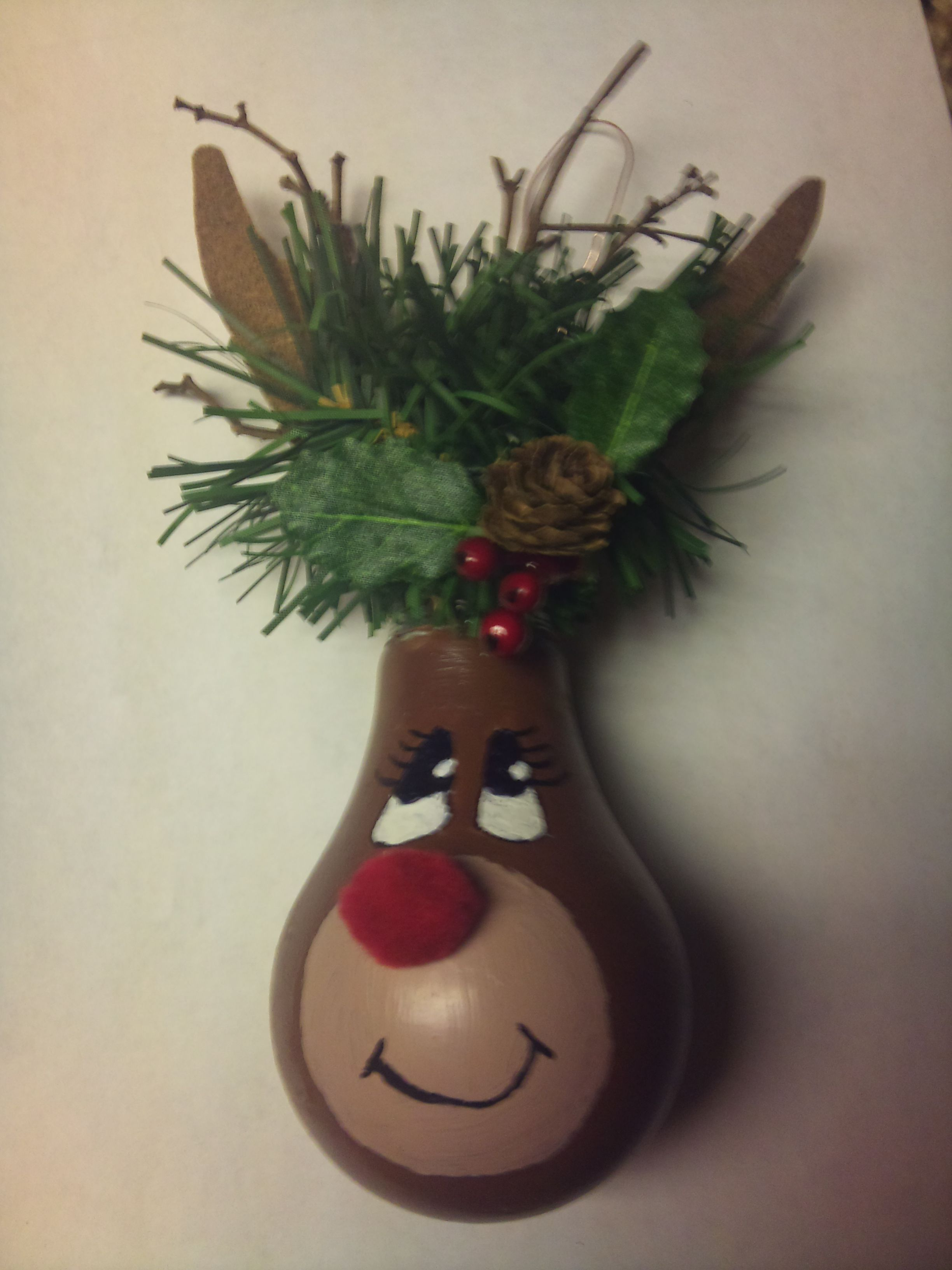 Christmas Ornament I made :) | Christmas decorations | Pinterest ... for Painted Light Bulb Art  113cpg