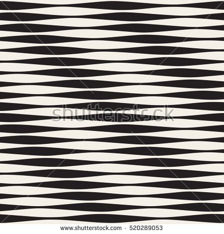 vector seamless black and white horizontal wavy lines pattern abstract geometric background design