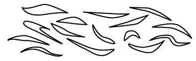 graphic regarding Tiger Stripe Stencil Printable named Pin via Ashley Laughlin Hale upon Printables Stencils, Nail
