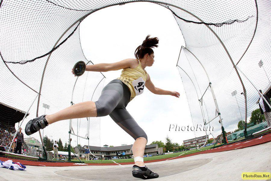"Stephanie Brown Trafton Discus 217' 1"" Beijing Olympics"
