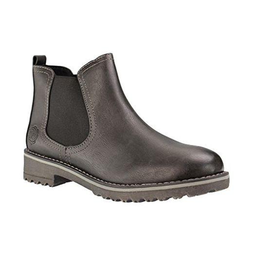 Marco Tozzi Damen 25496 Chelsea Boots, Grau (Anthracite Com), 36 EU