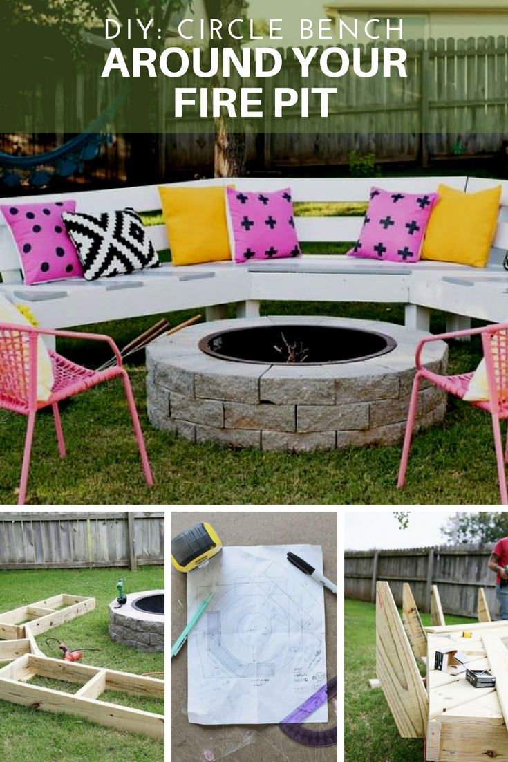 Diy Circle Bench Around Your Fire Pit Fire Pit Bench Fire Pit