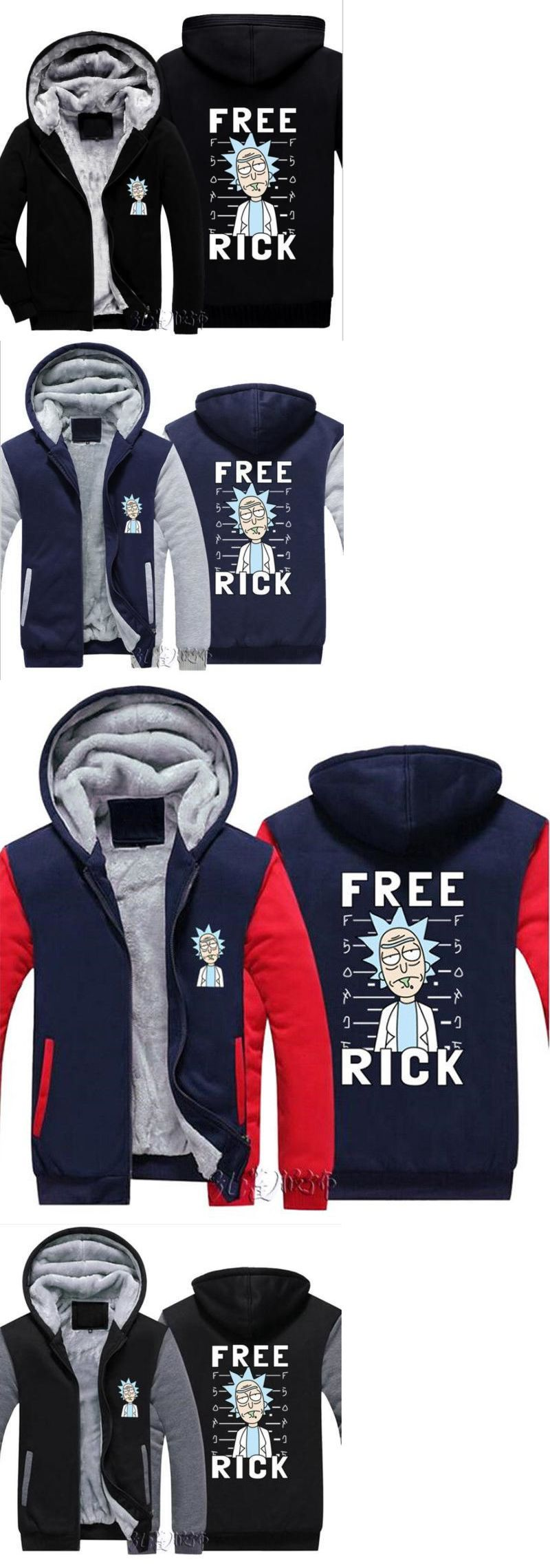 Coats and jackets 181372 new rick and morty hoodie anime coat jacket winter men thick zipper sweatshirt buy it now only 20 99 on ebay coats jackets