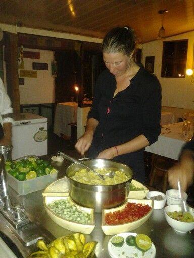 Making plantain Ceviche