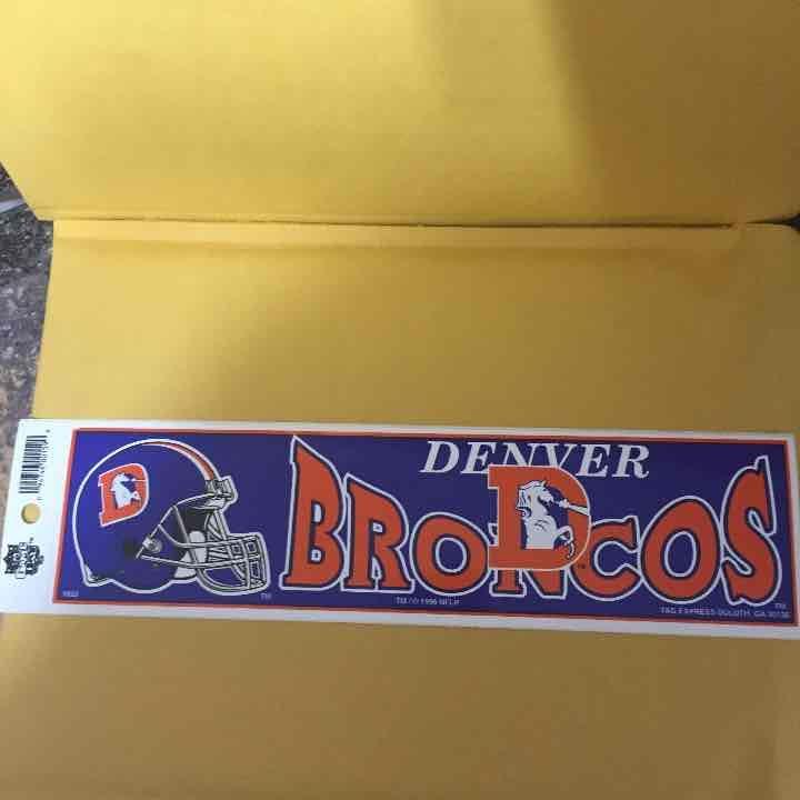 Cool item denver broncos old logo bumper sticker